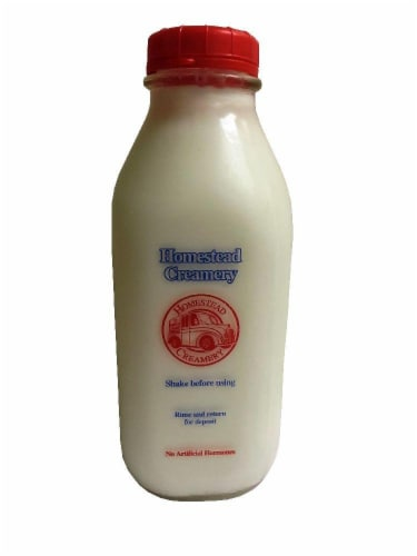Homestead Creamery Whole Milk Perspective: front