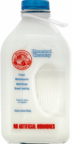 Homestead Creamery 2% Reduced Fat Milk Perspective: front