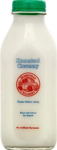 Homestead Creamery Skim Milk Perspective: front