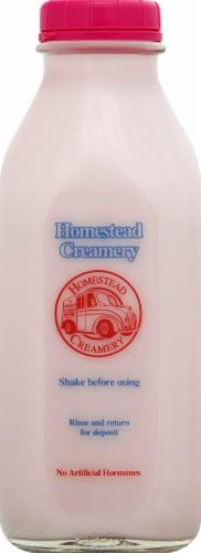 Homestead Creamery Strawberry Milk Perspective: front
