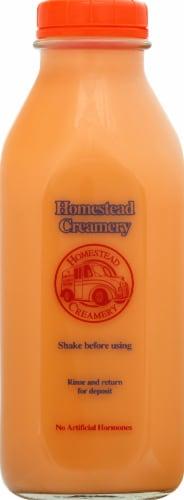 Homestead Creamery Whole Orange Cream Milk Perspective: front