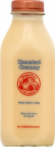 Homestead Creamery All Natural Eggnog Perspective: front