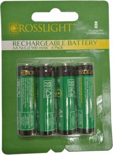 Crosslight Solar Rechargable AA Battery - 4 Pack Perspective: front