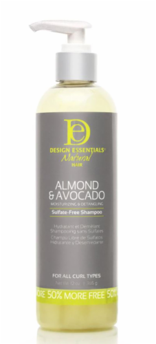 Design Essentials Natural Hair Almond & Avocado Sulfate-Free Shampoo Perspective: front