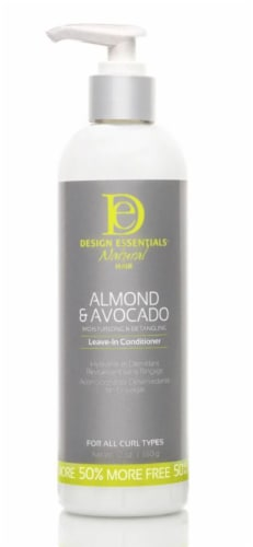 Design Essentials Natural Hair Almond & Avocado Leave-In Conditioner Perspective: front