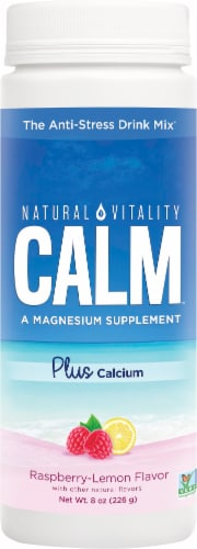 Natural Vitality Natural Calm Raspberry-Lemon Anti-Stress Drink Mix Perspective: front