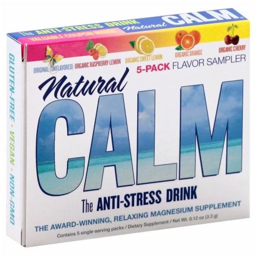 Natural Vitality Calm 5 Flavor Sampler Pack Perspective: front