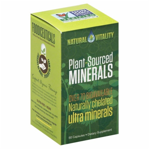 Natural Vitality Plant Sourced Minerals Perspective: front