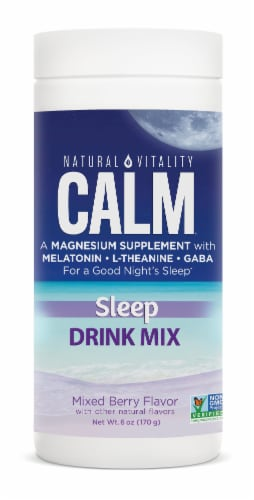 Natural Vitality Calm Specifics Calmful Sleep Mixed Berry Flavor Sleep Support Supplement Perspective: front