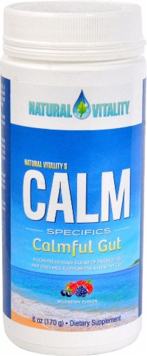 Natural Vitality  Calm Specifics Calmful Gut   Wildberry Perspective: front