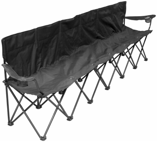 Creative Outdoor Six Person Bench Perspective: front