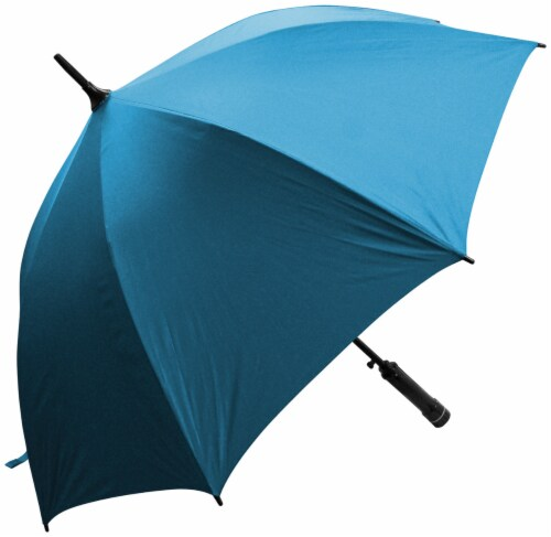 Creative Outdoor Bree-Z-Brella w/Built-In Fan UV Fabric - Blue Perspective: front