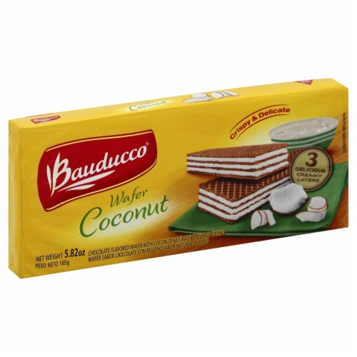 Bauducco  Wafer Cookies  Coconut Perspective: front