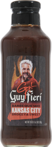 Guy Fieri Kansas City Barbecue Sauce Perspective: front