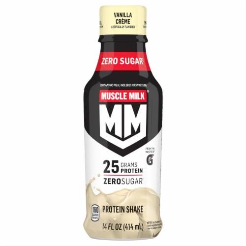 Muscle Milk Zero Genuine Vanilla Creme Non-Dairy Protein Shake Perspective: front