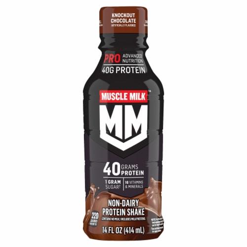 Muscle Milk Pro Series Knockout Chocolate Non-Dairy Protein Shake Perspective: front