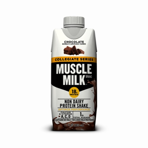 Muscle Milk® Collegiate Chocolate Protein Shake (12 Pack) Perspective: front