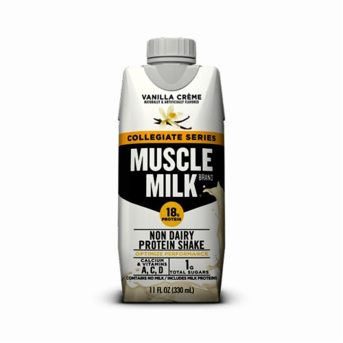 Muscle Milk® Collegiate Vanilla Creme Protein Shake (12 Pack) Perspective: front
