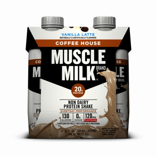 Muscle Milk Vanilla Latte Coffee House Non Dairy Protein Shake (3 Pack) Perspective: front