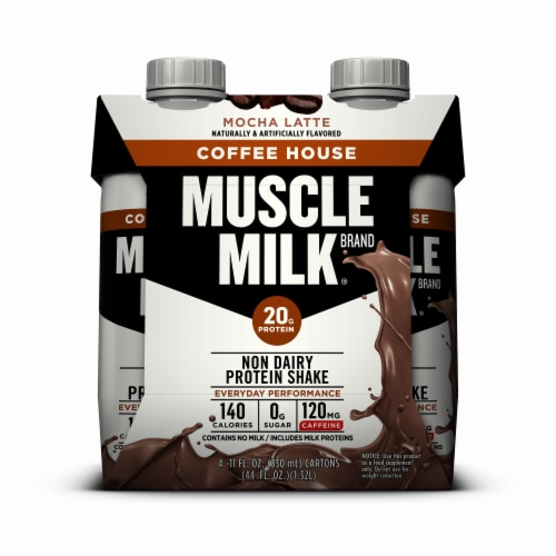 Muscle Milk Mocha Latte Coffee House Non Dairy Protein Shake (3 Pack) Perspective: front