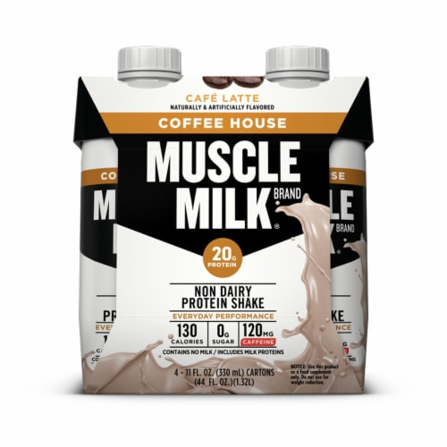 Muscle Milk Coffee House Cafe Latte Non Dairy Protein Shake Perspective: front