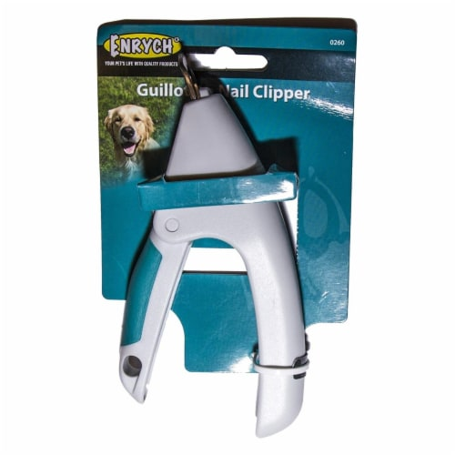 Enrych 0260 Guillotine Nail Clipper, Gray & Teal Perspective: front