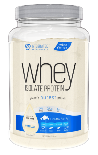 Integrated Supplements Vanilla Whey Isolate Protein Powder Perspective: front