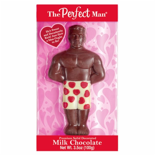 Treat Street The Perfect Man Solid Decorated Milk Chocolate Perspective: front