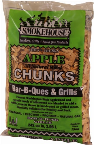 Smokehouse Products Apple Wood Chunks Perspective: front