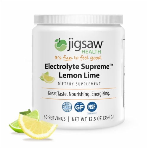 Jigsaw Health Electrolyte Supreme Lemon Lime Dietary Supplement Perspective: front