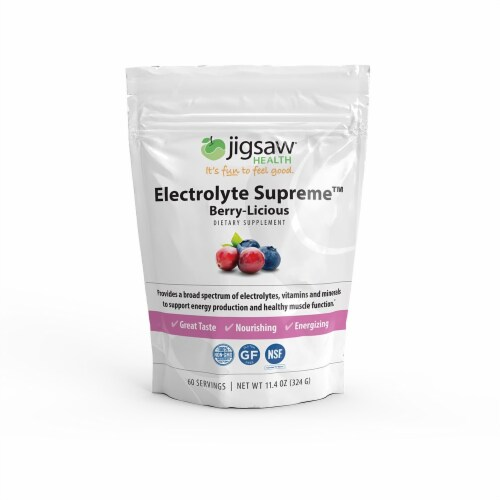 Jigsaw Health Electrolyte Supreme Berry-Licious Dietary Supplement Perspective: front