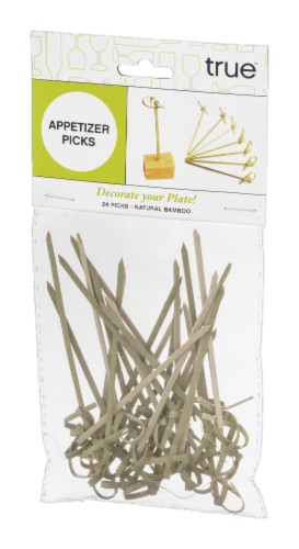 True Bamboo Appetizer Picks - 24 Pack - Natural Perspective: front