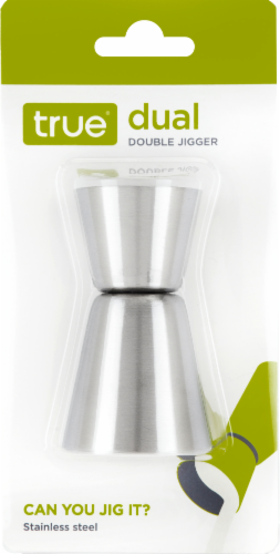 True Fabrications Dual Double Jigger - Silver Perspective: front