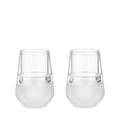 Glass FREEZE™ Wine Glass (set of two) by HOST® Perspective: front