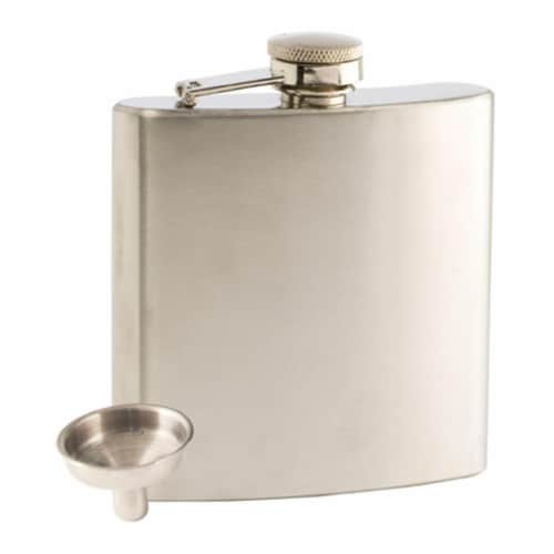 True Groomsman 6 oz Trueflask Stainless Steel Flask Perspective: front