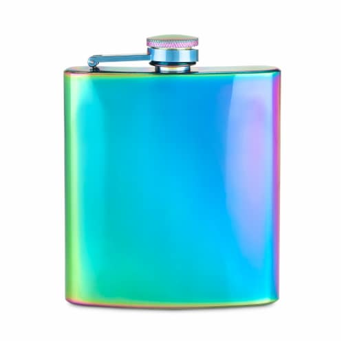 Mirage Iridescent Stainless Steel Flask by Blush® Perspective: front