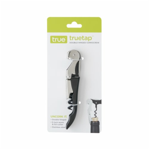 True Fabrications Double Hinge Corkscrew - Black/Silver Perspective: front