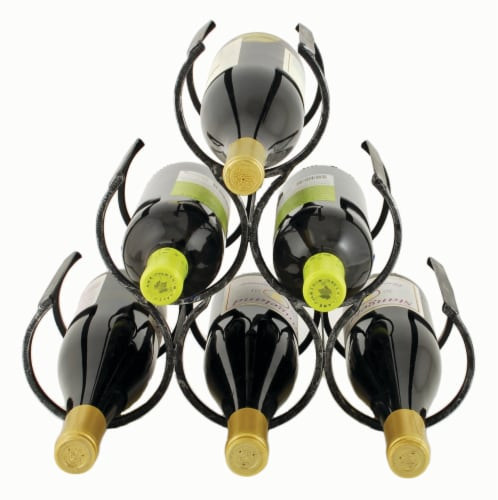Wine Shrine Metal Bottle Holder by Twine® Perspective: front