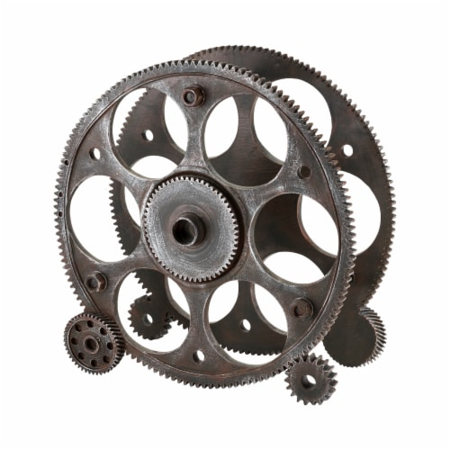 Gears And Wheels Wine Rack by Foster & Rye™ Perspective: front