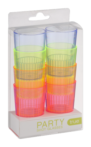 True Party Shot Glasses - Multi-Color - 8 Piece Perspective: front