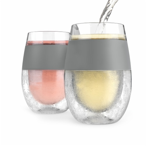 True Fabrications Freeze Cooling Wine Glass Perspective: front