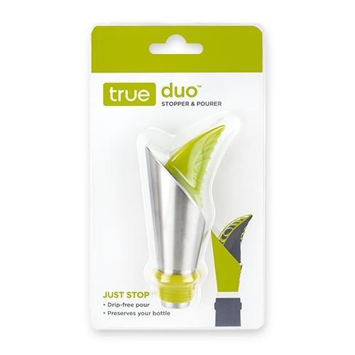 Truffle Duo Stopper & Pourer Perspective: front