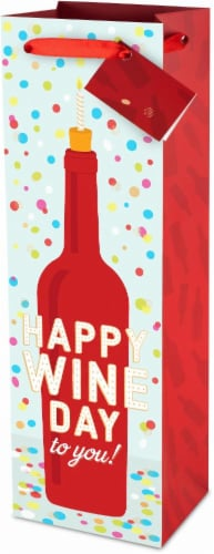 True Fabrications Happy Wine Day To You Wine Bag Perspective: front