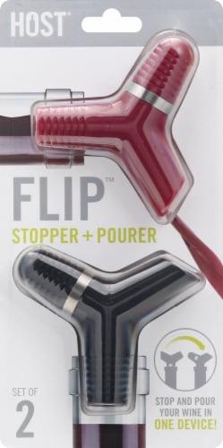 Host® Flip™ Bottle Stopper & Pourer Perspective: front