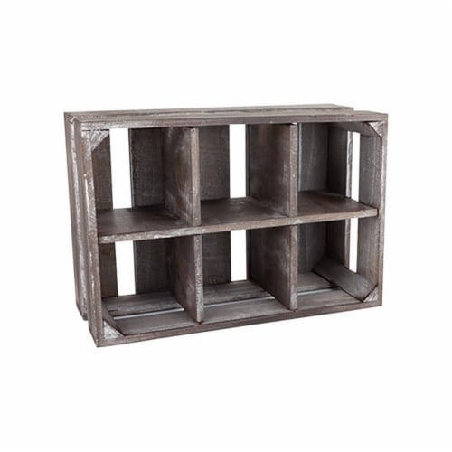 TWINE Marketplace 5-1/2 in. H x 13 in. W x 8-3/4 in. L Brown Empty Display Crate Wood - Case Perspective: front