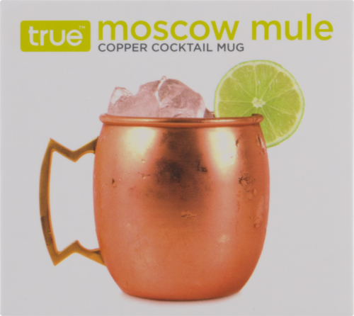 True Moscow Mule Copper Cocktail Mug - Copper Perspective: front