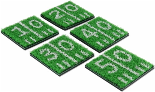 True Fabrications Home Turf Coasters - Green Perspective: front