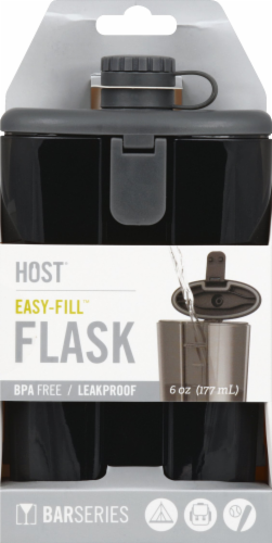 True Fabrications HOST® Easy-Fill Flask - Gray Perspective: front