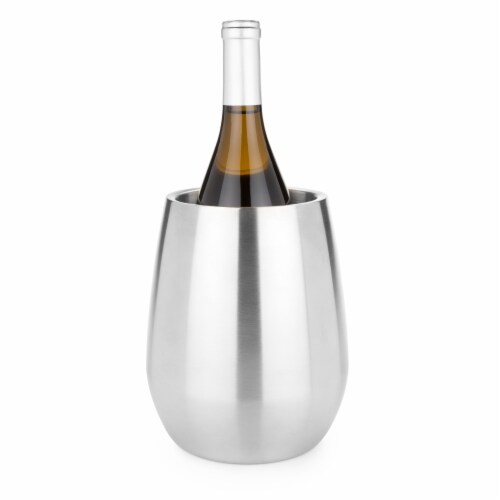Stainless Steel Bottle Chiller by Viski® Perspective: front