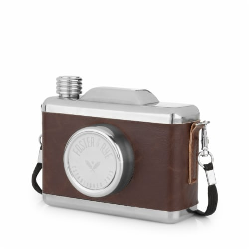 Stainless Steel Snapshot Flask by Foster & Rye™ Perspective: front